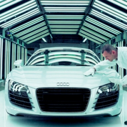Ultimate Factories on the National Geographic Channel is stopping next in Neckarsulm, Germany, to bring an inside look at the building of the Audi R8 supercar.
