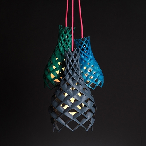 Plumen Ruche - a new made-to-order light shade that uses 3D printing. Created by Plumen with designer & engineer Hook Phanthasuporn.
