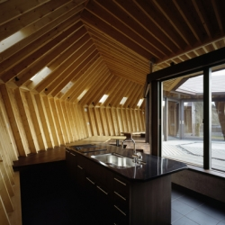 "On the seashore of the Tokyo Bay, Japanese architect Takeshi Hirobe has completed the ""Seashore Shell House"", an astonishing weekend retreat entirely made of wood."