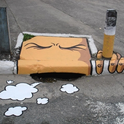 A whimsical way of looking at storm drains by 6emeia, a project created by SAO! and Delafuent.
