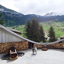 Underground home in the Swiss mountains by christian Muller Architects and SeARCH. Living in a cave never looked so desirable.
