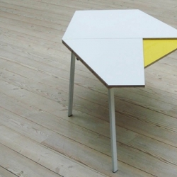 Copenhagen based design studio Morgan & Marley's 'Unfold' dining table; which does just exactly that.