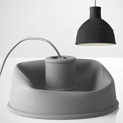 """'UNFOLD' pendant lamp by Form Us With Love for Muuto. """"The soft material also allows the lamp to be folded into a neat package."""""""