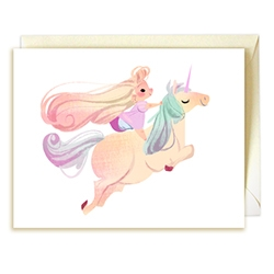 Lovely princess and unicorn set of cards by Mike Yamada and Victoria Ying!