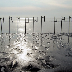 """""""Unknown Land"""" installation by Janno Hahn and ARK for the Alliance Graphique International conference in Amsterdam."""