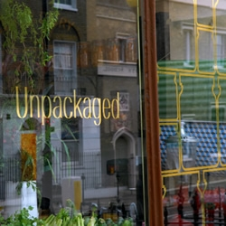 Unpackaged is a grocery shop with a wonderful, simple and ethical message to convey.... lose unnecessary food packaging!