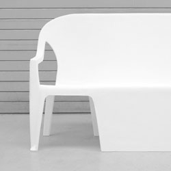 Part bench, part chair, the Benchair by Thomas Schnur.