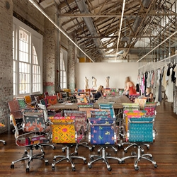 Urban Outfitters Corporate Campus, designed by Meyer Scherer & Rockcastle transformed four dilapidated historic buildings in Philadelphia's Navy Yard, into an award winning adaptive reuse headquarters.