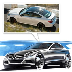 2012 Mercedes-Benz C63 AMG Coupe ~ a peek at it from sketches to final product... gorgeous!