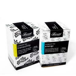 Cute tea packaging for Fairmont Hotels & Resorts by Up Inc.