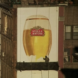 A touching story of art, expertise and craftsmanship beautifully captured in the short film 'Up There' - a short film documenting the dying art of hand-painted advertising, created as part of a campaign for Stella – The Ritual Project.