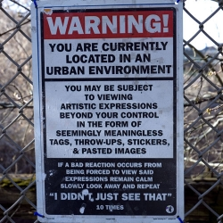 Amazing Urban Warning sign.