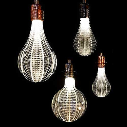 Hong Kong NAP's laser-etched URI LED Light Bulbs.
