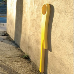 A public urinal in the design rather surprising, to eliminate the bad habits of the men.