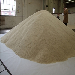 Of All The People In The World is a touring exhibition in which the population of the US and other countries is expressed as grains of rice. One grain =  one person