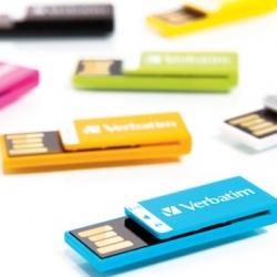 Tiny Verbatim Paperclip USB sticks.