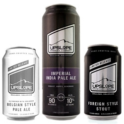 Upslope Brewing has lovely minimal can designs.