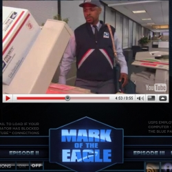 """Killer Copy-machines, Perilous Printers, Wackedout Water Jugs... just a couple of the antagonists to this 4 part webisode by the USPS called, Mark of the Eagle. Think,"""" The Office"""" meets """"Armageddon"""""""