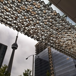 Having produced elegant responsive lighting installations for the likes of the V&A and Massive Attack, London based collective, United Visual Artists, have unveiled their first permanent public artworks in Toronto