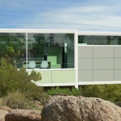 The V2 Flat: It's versatile and cool getaway in the middle of the desert... fully customizable, costs about $200/sq ft