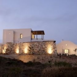 This lovely modern house on the island of Kythira, designed by RC TECH, is directly influenced by the local vernacular and mostly local materials were used in construction.