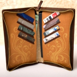 """The Vagabond"" is one of three new designs from Braithwaite Wallets. It is even designed to hold a moleskin journal! This will be ideal for my S. America trip next year."