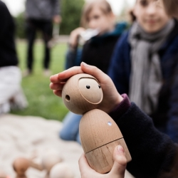 Avakai are play companions that encourage screen-free play and emotive communication. The lovingly crafted, durable and locally sourced wooden figurines use Bluetooth technology, bridging the gap between traditional toys and mobile devices.