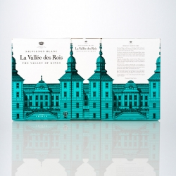 Neumeister designed a nice bag-in-box for the white wine La Vallée des Rois.