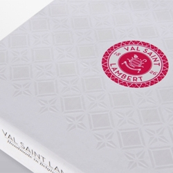 Cute packaging for Val Saint Lambert by Creneau International.