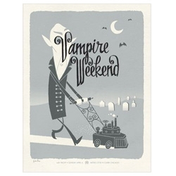 Fantastic Vampire Wekend poster from Spike press...hilarious