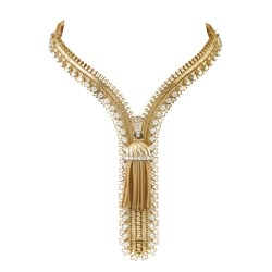 This Zip Antique necklace featured in The King's Speech and will soon be on display at the Cooper-Hewitt, where it is part of the 'Set in Style' exhibit featuring over 300 pieces from Van Cleef & Arpels.