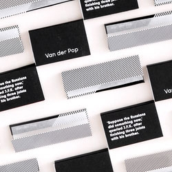 Pop Papers from Van der Pop - rolling papers packaged in a lovely black and white.