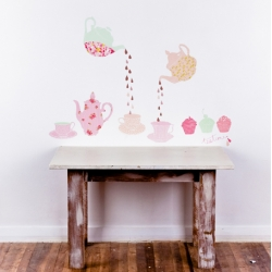 These cool wall decals by Australian designer Mae are inspired by vintage fabrics.