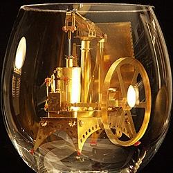 Szymon Klimek creates tiny solar-powered miniatures like the steam engine.