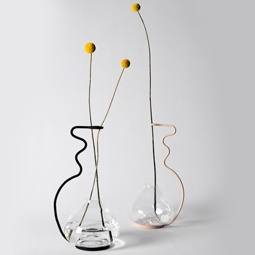 Vas Kurbits Rosa by Sofie Johansson & Jessica Westerberg - lovely single stem flower vases