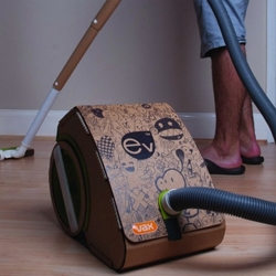 Introducing The Vax. the first cardboard vacuum cleaner using recycled packaging.