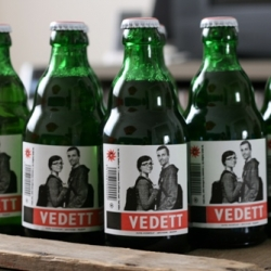 Vedett is a premium Belgium beer brand with a somewhat different attitude to bottle design, you can submit your photo on their website and your face will be plastered on 10,000 beer bottles.