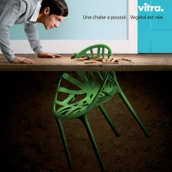'Vegetal' is a chair planted by the Bouroullec brothers, and embraced by Vitra ...