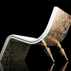 """The """"Divine"""" series is a collaborative effort with Emmanuel Touraine. A series of exclusive chairs, sleek and modern, constructed with several different glamorous materials."""