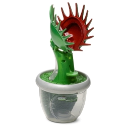 Trap, catch and explore live bugs with this motion activated Venus Fly Trap.  I hope you are catching these bugs outside because if you able to catch enough bugs inside your house to create a bug habitat you need to clean your place up now.