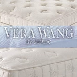 """This designer collaboration surprised me a bit... Vera Wang for Serta mattresses.   The """"sweetheart"""" model has a hearts motif quilted on top... hmm."""