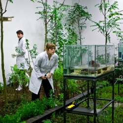 Artist Kris Verdonck transforms the first floor of a contemporary art gallery into a garden housing some of Belgium's most invasive species.