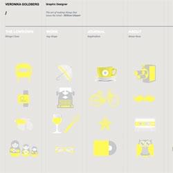 Cute website redesign from graphic designer Veronika Goldberg.
