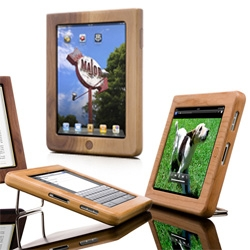 Vers iPad case ~ Cool wood case for iPad - doubles as a multi-use stand for viewing & typing too!
