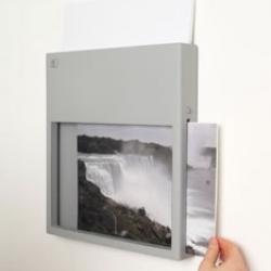 Wall mountable wireless printer.  Genius...