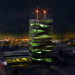 """These high rise multi-level """"Farmscrapers"""" offer a much more sustainable way to farm, and  could ultimately ease the world's food, water, and energy crises.  Not to mention giving urbanites tasty fresh locally grown veggies."""