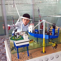 Danish wind turbine maker Vestas have Lego installations throughout Shanghai airport.