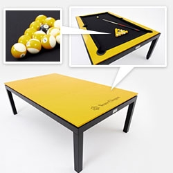 Fusion Tables (our NOTCOT conference/pool/dining table!) has created a limited 99 Veuve Clicquot editions. It is presented as a world premiere in Brussels during the opening of Design Sept 2012.