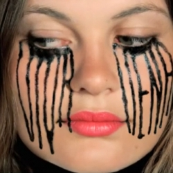 The new viral video for the fashion brand Viva Vena, from Vena Cava, has an animated sequence of a girl crying eyeliner... then the eyeliner turns into letters.  It's insane.