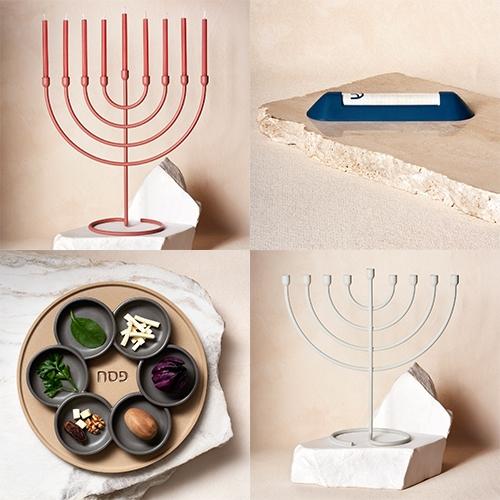 "Via Maris is ""a modernist Judaica brand"" based in Brooklyn. We've hit peak pastel, matte, minimal? Now with chanukiahs, mezuzahs, seder plates, and more."